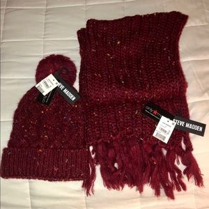 NWT Steve Madden Hat and Scarf Set
